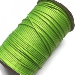 Sznurek jubilerski nabłyszczany 1mm - zielony neon