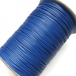 Sznurek jubilerski nabłyszczany 1mm - niebieski