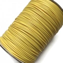 Sznurek jubilerski nabłyszczany 1mm - żółty