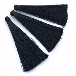 Chwosty frędzle z wiskozy 70-80mm czarne