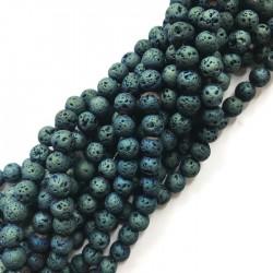 Lawa kulka 6mm sznurek zielony