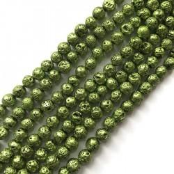Lawa kulka 8mm sznurek zielony