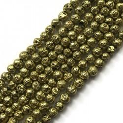 Lawa kulka 8mm sznurek żółty