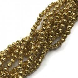 Lawa kulka 4mm sznurek złota