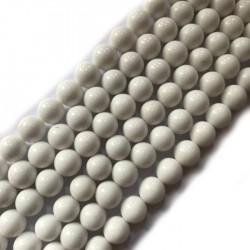Jadeit kulka 10mm biały