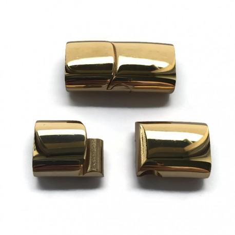 Zapięcie magnetyczne wsuwane bokiem 30x15mm stal nierdzewna złote