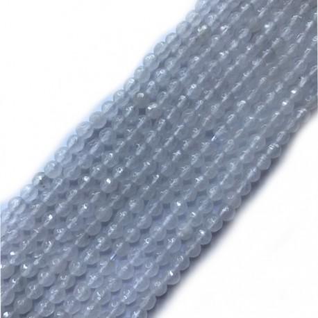 Jadeit kulka 4mm biały sznurek
