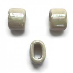 Koralik przekładka ceramiczna 20x14mm ecru