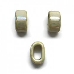 Koralik przekładka ceramiczna 20x10mm ecru