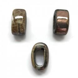 Koralik przekładka ceramiczna 20x10mm brąz-fiolet