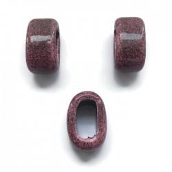 Koralik przekładka ceramiczna 20x10mm ciemny róż