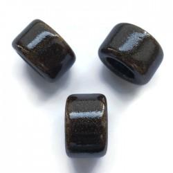 Koralik przekładka ceramiczna 24x14mm brąz