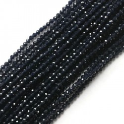 Szafir kulka fasetowana 3mm sznurek, półszlachetny