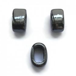 Koralik przekładka ceramiczna 20x10mm hematytowy