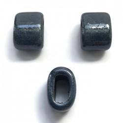 Koralik przekładka ceramiczna 20x10mm niebieski
