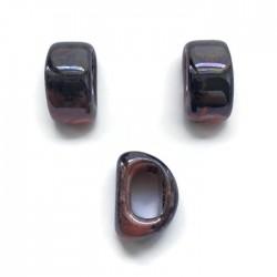 Koralik przekładka ceramiczna 20x10mm róż-fiolet