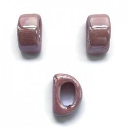 Koralik przekładka ceramiczna 20x10mm róż