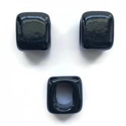 Koralik przekładka ceramiczna 15x15mm granat