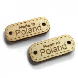 Drewno sklejka tabliczka napis MADE IN POLAND