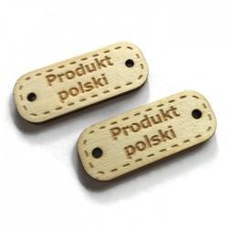 Drewno sklejka tabliczka napis PRODUKT POLSKI
