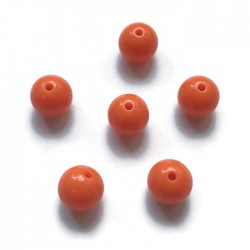 Kulki, koraliki plastikowe pomarańczowy 10mm