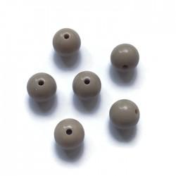 Kulki, koraliki plastikowe jasny brąz 10mm