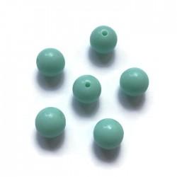 Kulki, koraliki plastikowe mietowy 10mm