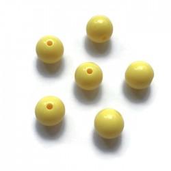 Kulki, koraliki plastikowe żółty 10mm