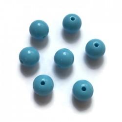Kulki, koraliki plastikowe niebieski 10mm