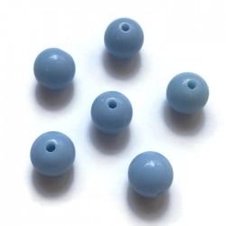Kulki, koraliki plastikowe błękitny 10mm