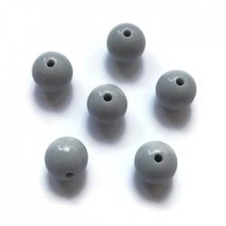 Kulki, koraliki plastikowe jasno szary 10mm