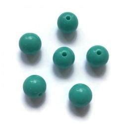 Kulki, koraliki plastikowe ciemno zielony 10mm