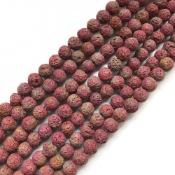 Lawa kulka 10mm sznurek czerwono-żółty