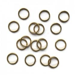 Kółeczka pojedyńcze 8mm stal nierdzewna złote