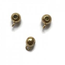 Krawatka 9x6mm stal nierdzewna złota