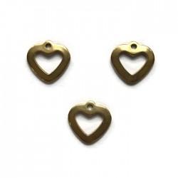 Zawieszka serce 11x11mm stal nierdzewna złota