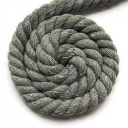 Sznurek sznur lina skręcana bawełna 10mm jasno szary