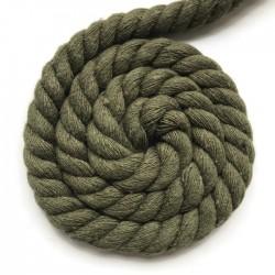 Sznurek sznur lina skręcana bawełna 10mm khaki