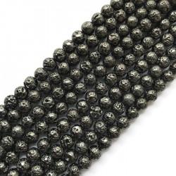 Hematyt kulka 8mm sznurek czarny
