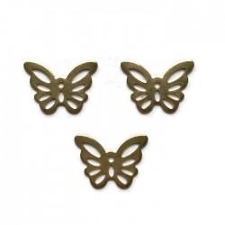 Zawieszka motylek 15x10mm stal nierdzewna złota