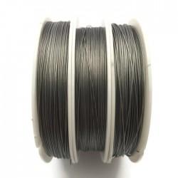 Linka stalowa jubilerska 0,45 mm-100 metrów srebrna
