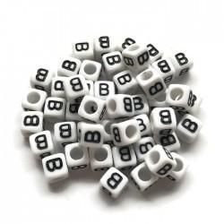 Koraliki modułowe - Literki - Alfabet literka B 6x6mm