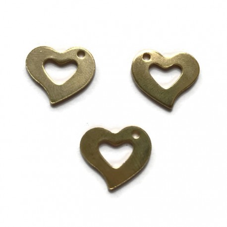 Zawieszka serce 15x13mm stal nierdzewna złota