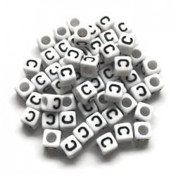 Koraliki modułowe - Literki - Alfabet literka C 6x6mm