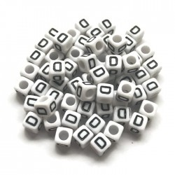 Koraliki modułowe - Literki - Alfabet literka D 6x6mm