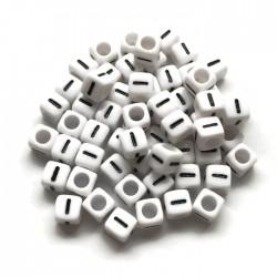 Koraliki modułowe - Literki - Alfabet literka I 6x6mm