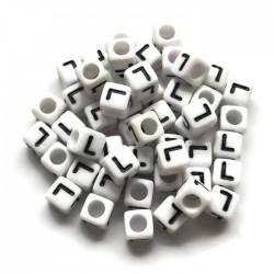 Koraliki modułowe - Literki - Alfabet literka L 6x6mm