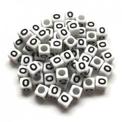 Koraliki modułowe - Literki - Alfabet literka O 6x6mm