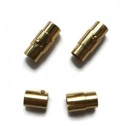 Zapięcie magnetyczne 18x8mm stal nierdzewna złota