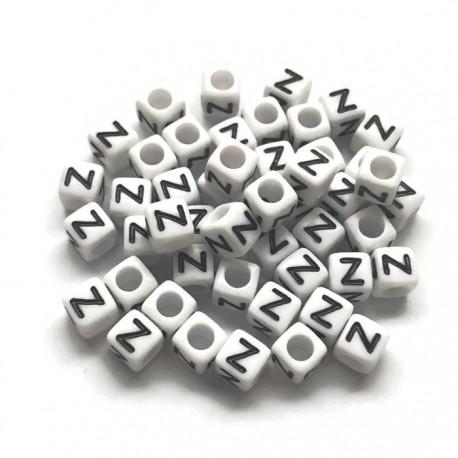 Koraliki modułowe - Literki - Alfabet literka Z 6x6mm